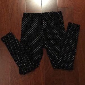 Uniqlo polka dots leggings small
